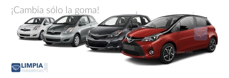 limpiaparabrisas toyota yaris gomas recambios. Black Bedroom Furniture Sets. Home Design Ideas